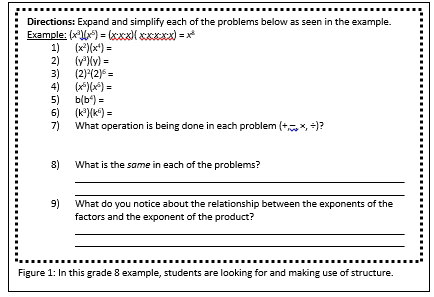 The Standards For Mathematical Practice Instructional Materials