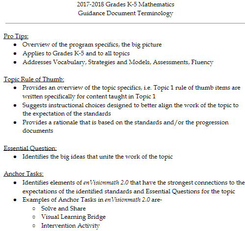 enVisionmath 2 0: Focusing the K-5 Mathematics Curriculum