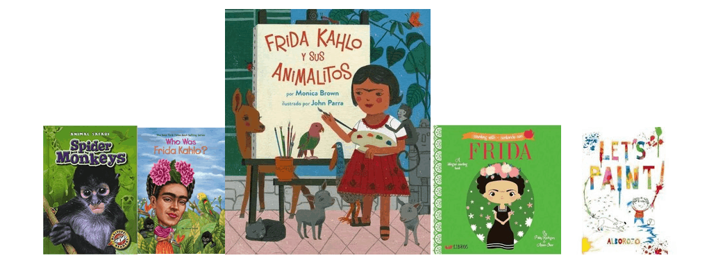 Selection of kindergarten texts for lesson on Frida Kahlo